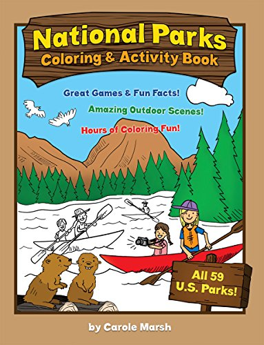 America's National Parks Coloring And Activity Book, Kids Activity And Camping Coloring Books, Camp Games Kids And Adults Love
