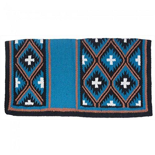 Teal Black orange White 36 X 34 Teal Black orange White 36 X 34 Tough 1 Sequoyah Wool Saddle Blanket