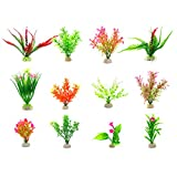 Zivisk Artificial Aquarium Plants Plastic Water Plant Fish Tank Decoration - 12Pcs