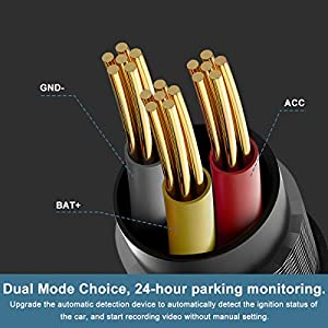 ?2 Pack? OBD Power Cable, Mini USB Port OBD2 Power Cable for Dash Camera 24 Hours Surveillance/Acc Mode with Switch Button, 16Pin OBDII Adapter Hardwire Charger Cable 12-26V to 5V (Color: black)