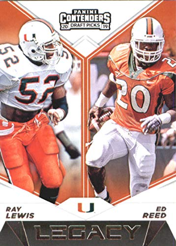 (2019 Panini Contenders Draft Tickets Legacy #16 Ray Lewis/Ed Reed Miami Hurricanes Football Card)