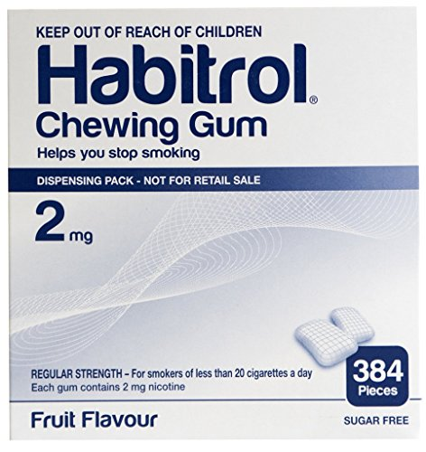 Habitrol Nicotine Gum 2mg Fruit BULK 384 pieces