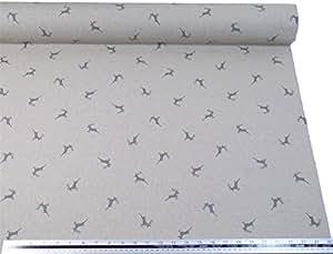 Plata de ciervo gris y beige lino Look tela de alta calidad Material A4muestra