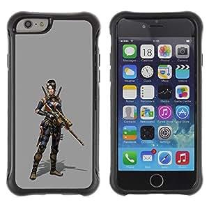 LASTONE PHONE CASE / Suave Silicona Caso Carcasa de Caucho Funda para Apple Iphone 6 PLUS 5.5 / Woman Pc Game Character Fighter War