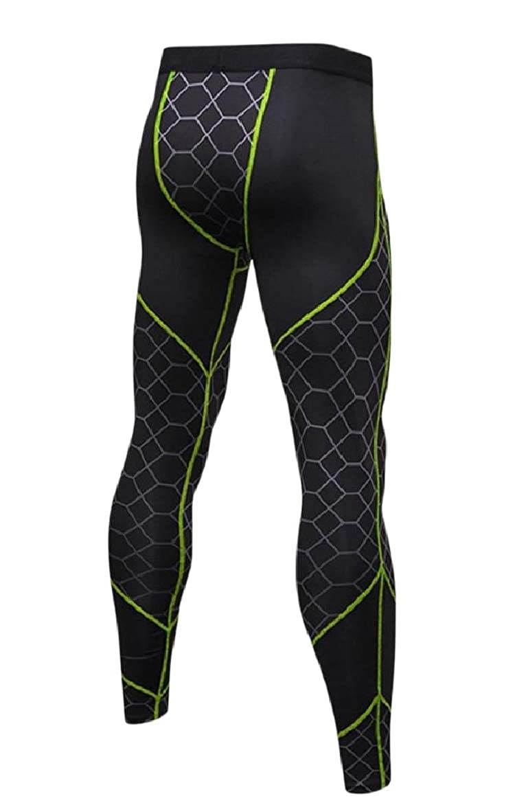 SportsX Mens Sports Compression Hit Color Fast Dry Activewear Tights Legging