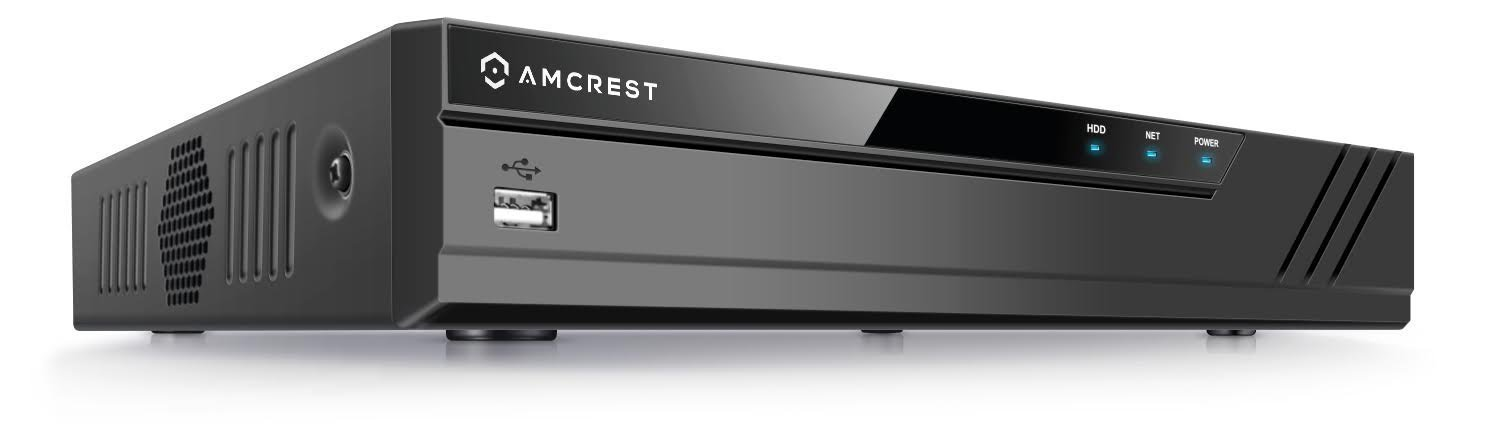 Amcrest NV4116E (16CH 720p/1080p/3MP/4MP/5MP/6MP/8MP/4K) Network Video Recorder - Supports up to 16 x 8-Megapixel IP Cameras, Supports up to 6TB HDD (Not Included) by Amcrest