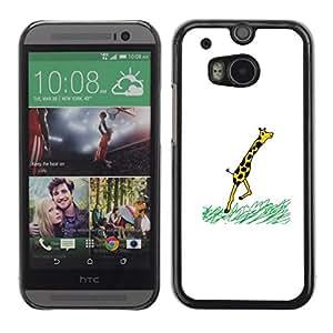 Caucho caso de Shell duro de la cubierta de accesorios de protección BY RAYDREAMMM - HTC One M8 - Jirafa divertida COMIC