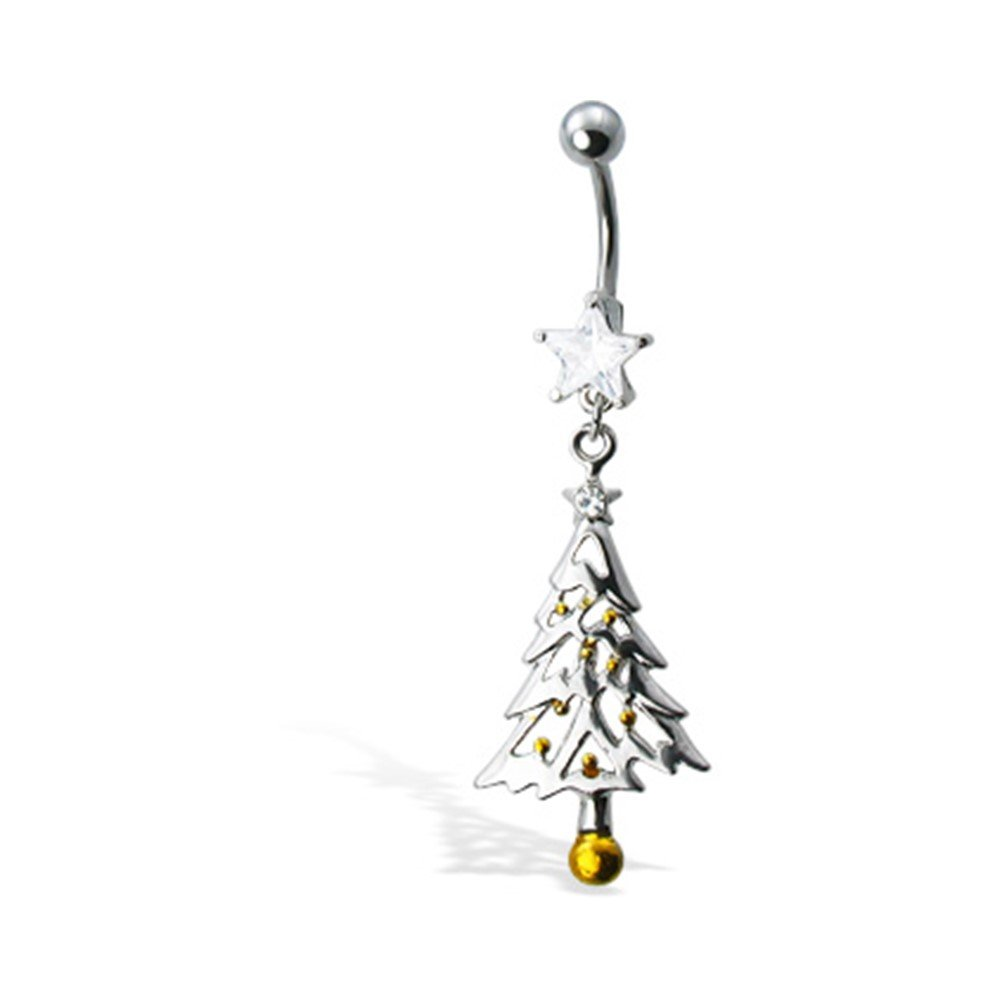 MsPiercing Christmas Tree Belly Button Ring MsPiercing Belly Button Rings pr_sku_1661
