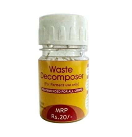 Waste Decomposer made by using NCOF technology Ghaziabad Organic waste decomposer Pack of 10, 30ml per bottle