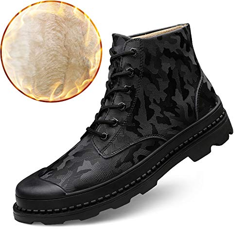 Foderati Foderati Foderati all all all all Stivaletti Occasions Camouflage Daily in Camouflage Stivali in in alla Moda Pattern Opzione Casual Pile Black Fantasia Convenzionale for Boots Pile for Men 71UqffF