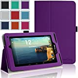 HOTCOOL Verizon Ellipsis 7 Case – Slim New-Leather Folio 2014VAPU Case For Verizon Ellipsis 7 4G LTE Tablet, Purple