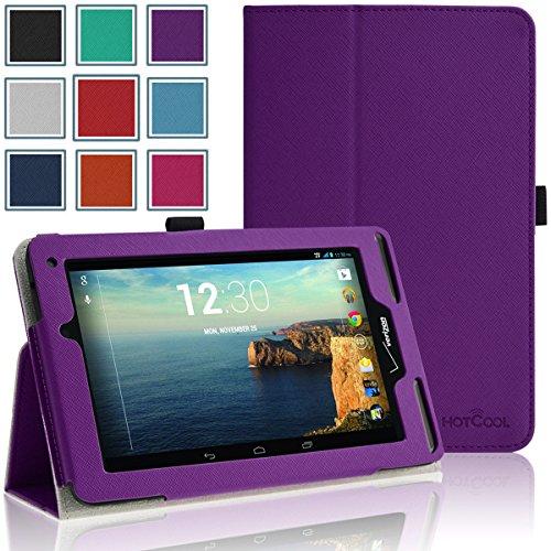 HOTCOOL Verizon Ellipsis 7 Case – Slim New-Leather Folio 2014VAPU Case For Verizon Ellipsis 7 4G LTE Tablet, Purple, Best Gadgets