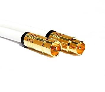 Estilo Best 5 m Antena Cable Digital TV Cable Coaxial 130dB Conector hembra chapado en oro