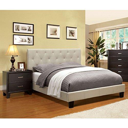 Drawer Profile Set (Furniture of America Perdella 2-piece Ivory Low Profile Bedroom Set 2-drawer)