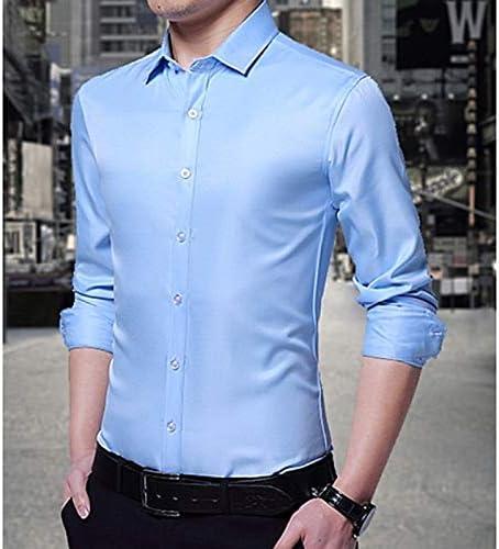 IYFBXl Camisa de Hombre de Negocios - Color sólido, Azul Claro, L: Amazon.es: Deportes y aire libre