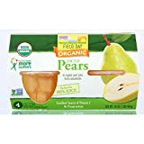 Field Day Pears Organic Diced Cup 113 g 4 Count (Pack of 6)