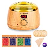 Wax Warmer Hair Removal Waxing Kit with Digital LCD Display and Temperature Control Painless Self Home Waxing for Women Men, Body,Armpit,Bikini,Eyebrow,Face
