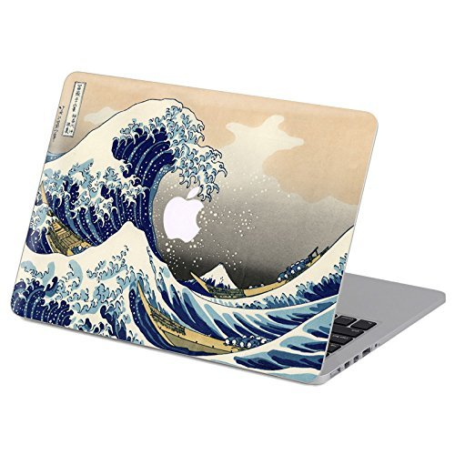 Customized Famous Painting Series the Great Wave Off Kanagawa By Katsushika Hokusai Special Design Removable Vinyl Decal Top Front-cover Sticker Skin for Macbook Air 13 (Model A1369/a1466)