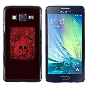 iKiki Tech / Estuche rígido - Animal Minimalist Abstract Red - Samsung Galaxy A3 SM-A300