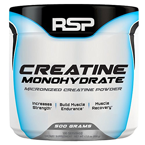 RSP Creatine Monohydrate - Pure Micronized Creatine Powder Supplement for Increased Strength, Muscle Recovery, and Performance for Men & Women, Unflavored, 500 grams