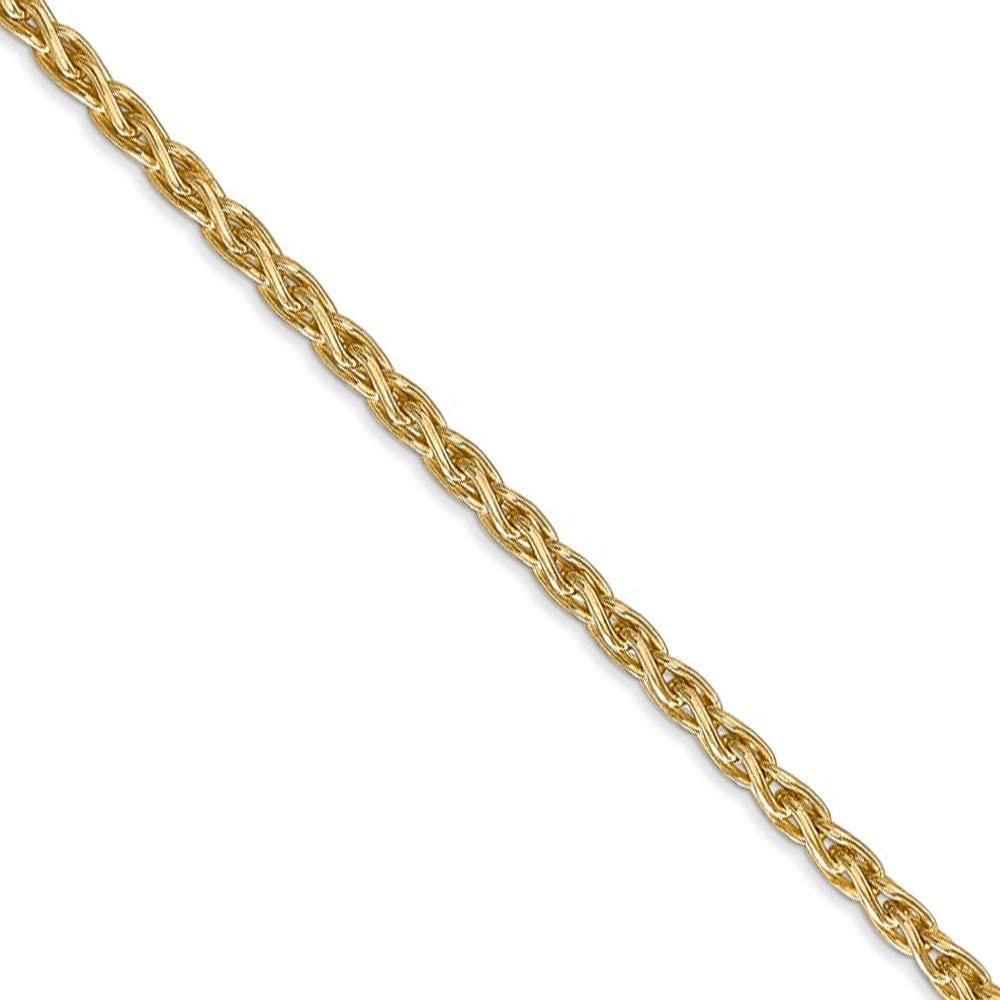 10k Yellow Gold 1.2mm Parisian Wheat Chain Necklace 7 inch 30 inch