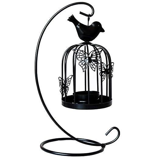 czos88 Candelero para la luz del té Forma la Jaula pájaros Adorno ...