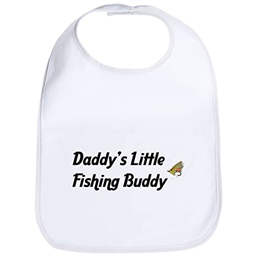 eeb55f9abd2 Amazon.com  CafePress - Daddy s Little Fishing Buddy Bib - Cute Cloth Baby  Bib
