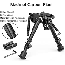 "XAegis Carbon Fiber 6""- 9"" Rifle Bipod with Adapter -Picatinny M-LOK Keymod, Carbon Bipod for Hunting&Shooting"