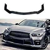 NINTE Front Bumper Lip Spoiler for 2014-2017 Infiniti Q50 | Gloss Black PP Lip Spoiler - ONLY FIT THE BUMPER IN PICTURE