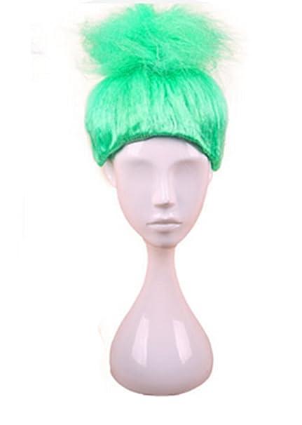 longlove Cosplay peluca pelucas de peluche Halloween niños Troll llama Magic Fantasy partido peluca