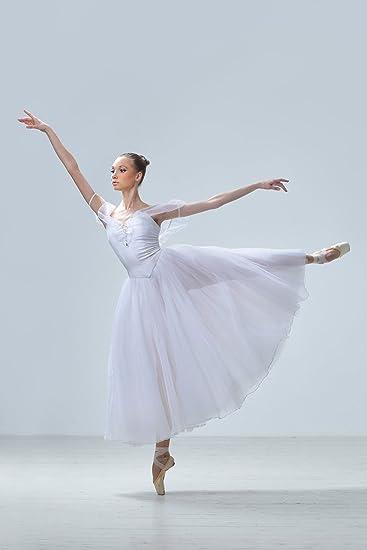 Postereck - Poster 0633 - Ballerina, weißes Kleid tanzen Ballett ...