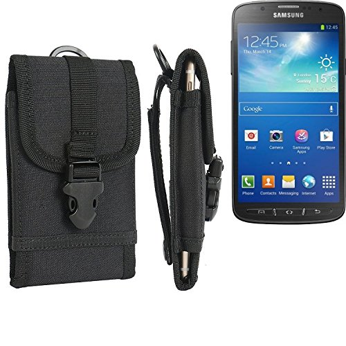 bolsa del cinturón / funda para Samsung Galaxy S4 Active, negro | caja del teléfono cubierta protectora bolso - K-S-Trade (TM)