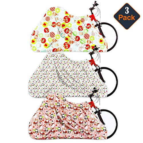 "Regent Set of 3 Assorted Bags Jumbo/Giant Bike Size 60""x72""- Santa, Snowman,Snowflake (3)"