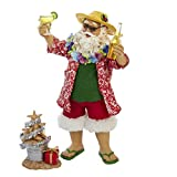 Kurt Adler Fabriche Beach Santa, 10-Inch, Set of 2