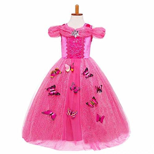 Sleeping Beauty Princess Aurora Party Girls Costume Dress
