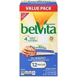 Belvita Breakfast Biscuits, Blueberry, 1.76 Ounce, 12 Count
