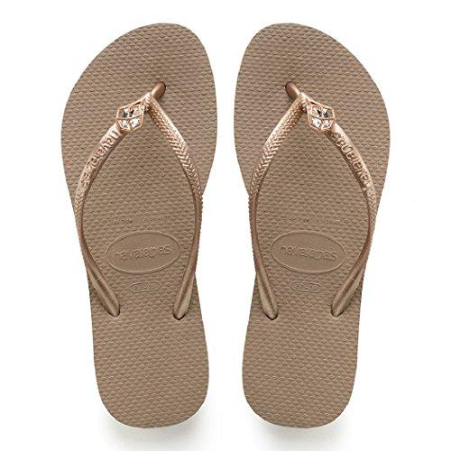 Havaianas Women Sandals Flip-Flop Rose Gold (37-38 M -