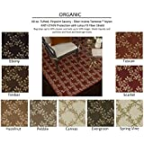 3 x5  EVERGREEN - ORGANIC - Custom Carpet Area Rug - 40 Oz. Tufted, Pinpoint Saxony - Nylon by Milliken (9 Colors...