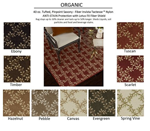 Oval 9'x12' EVERGREEN - ORGANIC - Custom Carpet Area Rug - 40 Oz. Tufted, Pinpoint Saxony - Nylon by Milliken (9 Colors to Choose From) ()