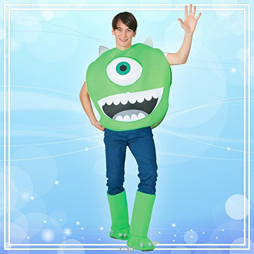Disney's Monsters Inc Costume - Mike Wazowski Costume - Teen/Men's S/M Size