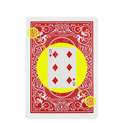 Blue-ther Marked Stripper Deck Playing Cards Poker Magic Tricks Props Close Up Street Illusion Mentalism Gimmick ()