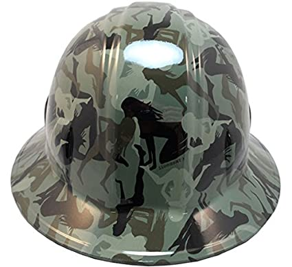 Image Unavailable. Image not available for. Color  Texas America Safety  Company Camo Bootie Full Brim Style Hydro Dipped Hard Hat ... 55f0892130f2