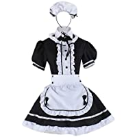 Wraith of East Adult Maid Costume Cute Girl Lolita Cosplay Outfit Halloween Costumes Women Fancy Dress Apron with…