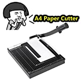 Professional A4 Office Home Guillotine Paper Cutter Paper Trimmer Machine Heavy Duty Metal Base 12 Sheet Capacity [US STOCK] (A4-Black(32.5x25cm))