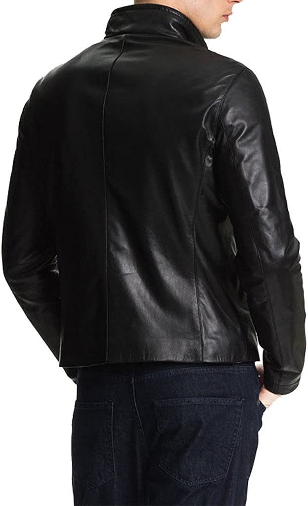 New Mens Leather Motorcycle Jacket Slim fit Leather Jacket Coat KL271