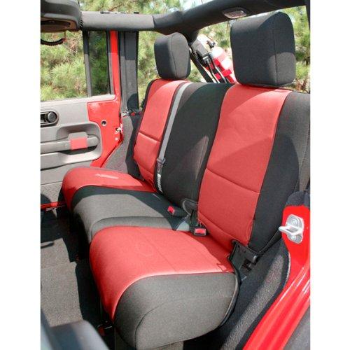 Rugged Ridge 13264.53 Black & Red Custom Neoprene Rear Seat Cover