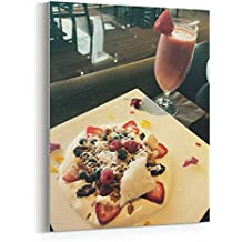 Westlake Art Breakfast Food - 16x20 Canvas Print Wall Art - Canvas Stretched Gallery Wrap Modern Picture Photography Artwork - Ready to Hang 16x20 Inch (C5F8-301BC)