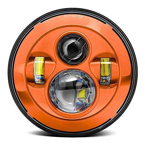 orange motorcycle led lights - 9