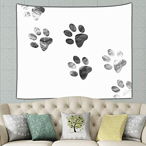 wrtgerht Animal Print Animals Wildlife paw Illustrations Clip Art Tapestry Wall Tapestry Bohemian Wall Hanging Tapestries Wall Blanket Wall Art Wall Decor Beach Tapestry Tapestry Wall Decor 50ʺ × 60ʺ ()