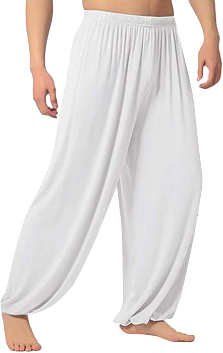 Leggings Deportivo Hombre SUNNSEAN Color Sólido Suave Transpirable Suelto  Casual para Danzas Deportes Gimnasio Fitness Yoga Pantalones Largas Pants 3be49c18f70a